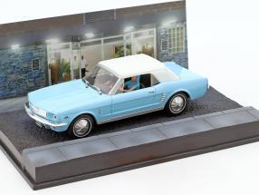 Ford Mustang Convertible James Bond Movie Car fireball light blue 1:43 Ixo
