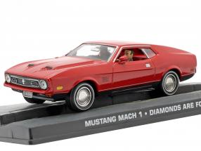 Ford Mustang Mach 1 James Bond Movie Car Diamonds are Forever red 1:43 Ixo