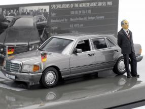 Mercedes-Benz 500 SEL(W126) federal chancellor Helmut Kohl 1989 1:43 Minichamps