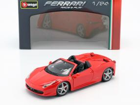 Ferrari 458 Spider red 1:24 Bburago