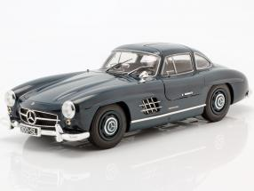 Mercedes-Benz 300 SL (W198) Gullwing year 1955 dark blue 1:18 Minichamps