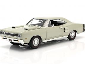 Dodge Coronet R/T year 1969 silver green metallic 1:18 Autoworld
