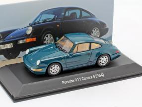 Porsche 911 Carrera 4 (964) year 1989-1994 amazon green 1:43 Spark
