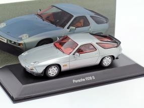Porsche 928 S year 1980-1986 silver 1:43 Spark