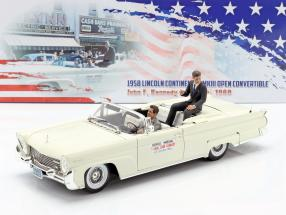 Lincoln Continental MK III Convertible 1958 J. F. Kennedy with figurines 1:18 SunStar