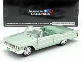 Ford Galaxie 500 XL Open Convertible 1963 moss green 1:18 SunStar