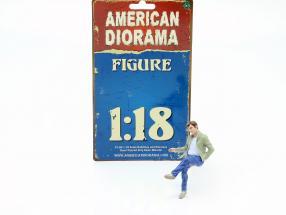 Sitting Lovers Figure #1 1:18 American Diorama