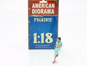 Sitting Lovers Figure #2 1:18 American Diorama