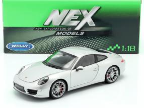 Porsche 911 (991) Carrera S Coupe silver 1:18 Welly