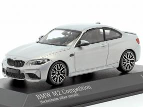 BMW M2 Competition year 2019 Hockenheim silver metallic 1:43 Minichamps