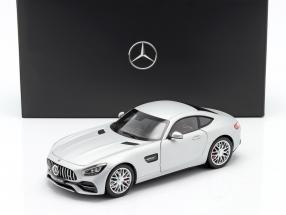 Mercedes-Benz AMG GT S Coupe (C190) designo iridium silver magno 1:18 Norev