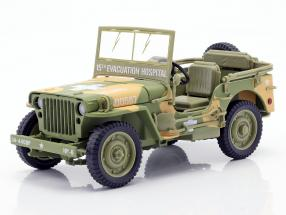 Willys MB Medical Jeep 4x4 US Army year 1941 camouflage 1:18 Autoworld
