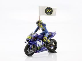 Valentino Rossi Yamaha YZR-M1 #46 3rd MotoGP Catalonia 2018 1:12 MInichamps