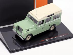 Land Rover Series II 109 Station Wagon 4x4 year 1958 light green / beige 1:43 Ixo