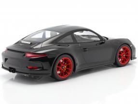 Porsche 911 R year 2016 black with red rims