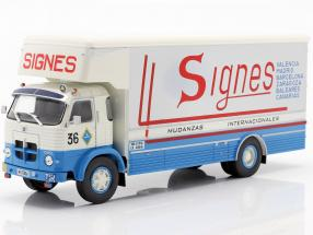 Pegaso 1065 L Europa Truck year 1970 blue / white / red 1:43 Altaya