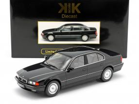 BMW 740i E38 1.Series year 1994 black metallic 1:18 KK-Scale