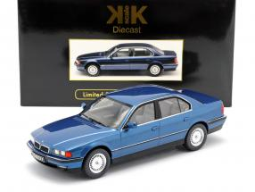 BMW 740i E38 1st series year 1994 blue metallic 1:18 KK-Scale