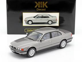 BMW 740i E38 1st series year 1994 silver gray metallic 1:18 KK-Scale