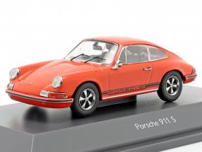 Porsche 911 S Coupe year 1971 orange 1:43 Schuco