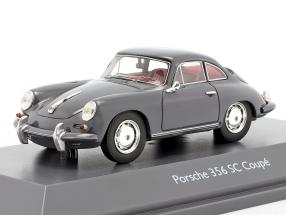 Porsche 356 SC Coupe year 1961-1963 grey 1:43 Schuco