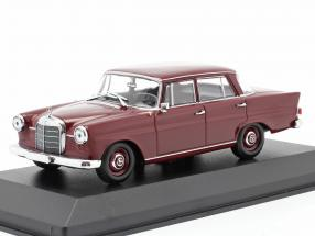 Mercedes-Benz 190 Heckflosse year 1961 dark red 1:43 Minichamps