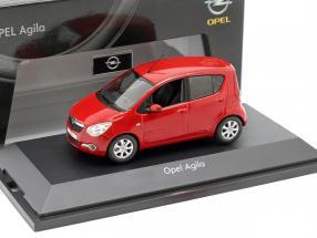 Opel Agila Mk2 year 2008 red 1:43 Schuco
