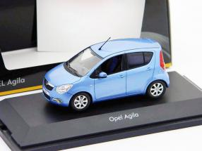 Opel Agila Mk2 year 2008 blue metallic 1:43 Schuco