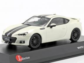Subaru BRZ year 2013 white with black stripes 1:43 Kyosho JCollection
