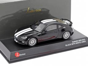 Subaru BRZ year 2013 black with white stripes 1:43 Kyosho JCollection