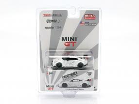 LB Works Nissan GT-R (R35) Type 1 LHD white in blister 1:64 TrueScale