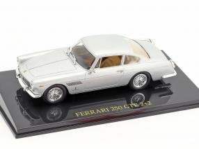Ferrari 250 GTE 2 2 silver With Vitrine 1:43 Altaya / 2. choice