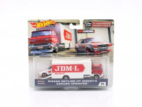 Set Team Transport: Nissan Skyline HT 2000GT-X & Sakura Sprinter 1:64 HotWheels