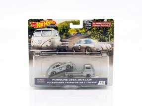 Set Team Transport: Porsche 356A Outlaw & VW T1 Pick-Up 1:43 HotWheels