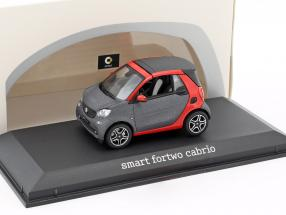 Smart fortwo Cabriolet (A453) red / Gray 1:43 Norev / 2. choice