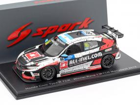 Honda Civic Type R TCR #86 Winner Race 1 WTCR Marrakesh 2019 Guerrieri 1:43 Spark