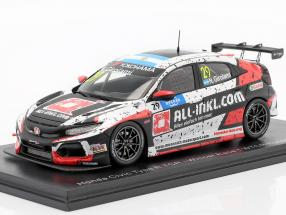 Honda Civic Type R TCR #29 Winner Race 1 WTCR Hungaroring 2019 Girolami 1:43 Spark