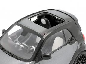 Smart fortwo Coupe (C453) black / Gray 1:18 Norev / 2nd choice