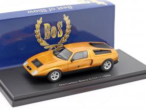 Mercedes-Benz C111-I year 1969 dark orange metallic 1:43 BoS-Models