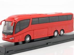 Scania Irizar Pb bus red 1:50 Cararama
