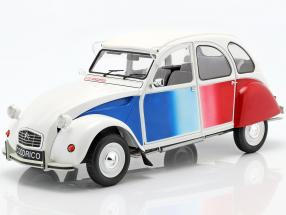 Citroen 2CV Cocorico year 1986 white / blue / red 1:12 Z-Models