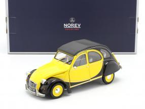Citroen 2CV 6 Club year 1982 helios yellow / black 1:18 Norev