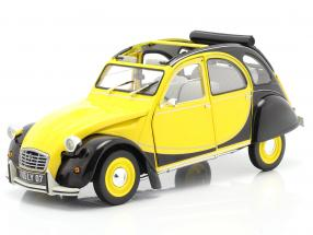 Citroen 2CV 6 Club year 1982 helios yellow / black 1:18 Norev