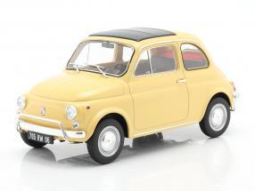 Fiat 500L year 1971 Tahiti yellow 1:18 Norev