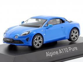 Renault Alpine A110 Pure Construction year 2018 alpine blue 1:43 Norev