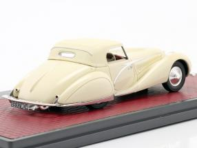 Talbot-Lago T150C Closed Cabriolet Figoni & Falaschi 1936 cream white 1:43 Matrix