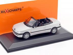 Peugeot 306 Cabriolet year 1998 mat silver 1:43 Minichamps