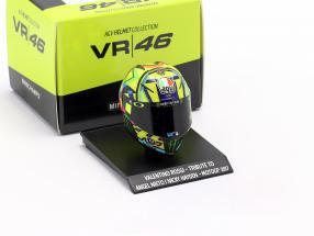 Valentino Rossi tribute to A. Nieto / N. Hayden MotoGP 2017 AGV helmet 1:10 Minichamps
