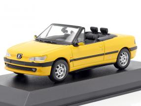 Peugeot 306 Cabriolet year 1998 yellow 1:43 Minichamps