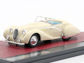Talbot-Lago T150C Open Cabriolet Figoni & Falaschi 1936 cream White 1:43 Matrix